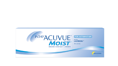 Get 1-DAY ACUVUE MOIST for ASTIGMATISM 30pk