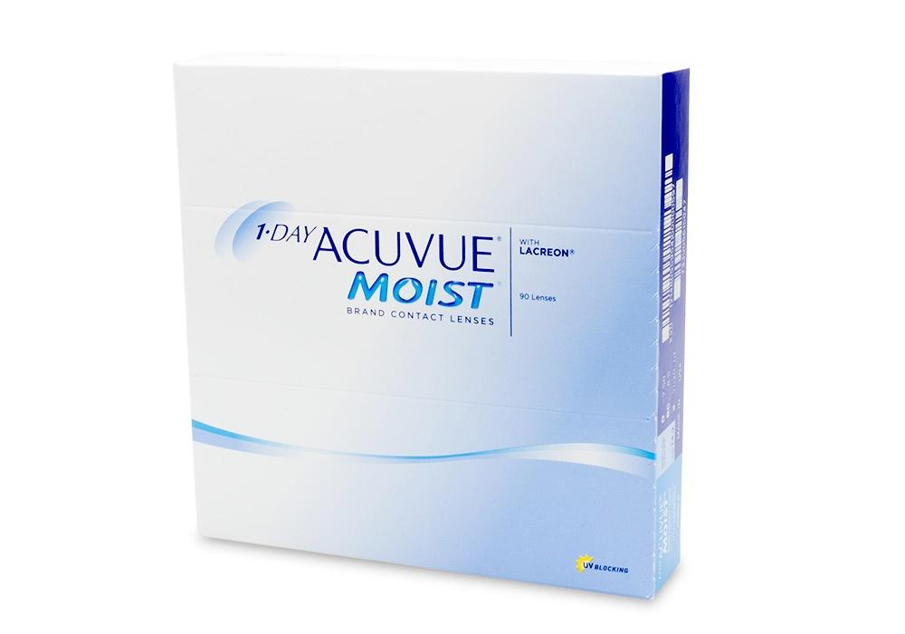 Get 1-DAY ACUVUE MOIST 90pk